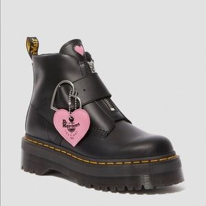 Dr. Martens x Lazy Oaf Heart Buckle Boot - Size 9